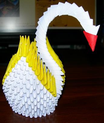 модульное оригами схема лебедь