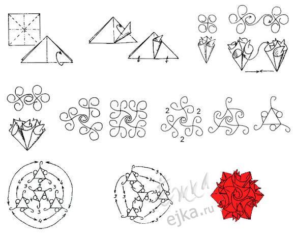 модульное оригами схемы для