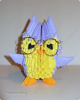 Оригами модульное схема сборки сова