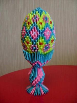модульное оригами схема яйца
