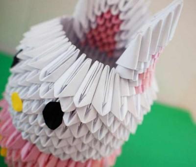 модульное оригами заяц схема