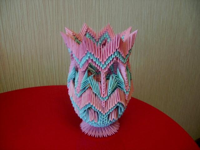 модульное оригами ваза мастер