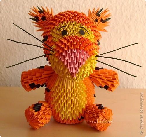 Схема тигра из модульного оригами