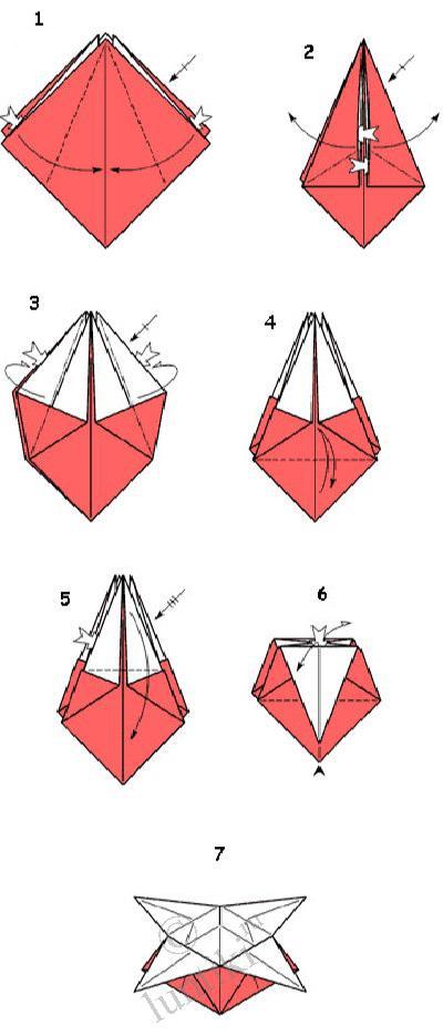 оригами бумажный цветок