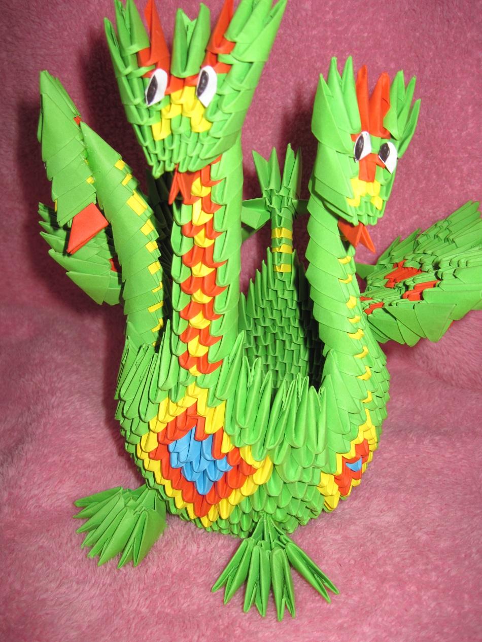 оригами дракон простая схема