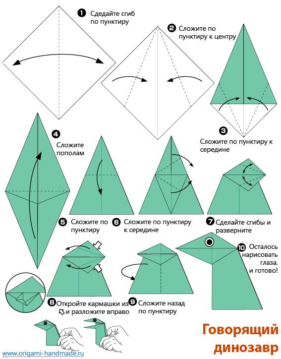 Как сделать из бумаги рот динозавру