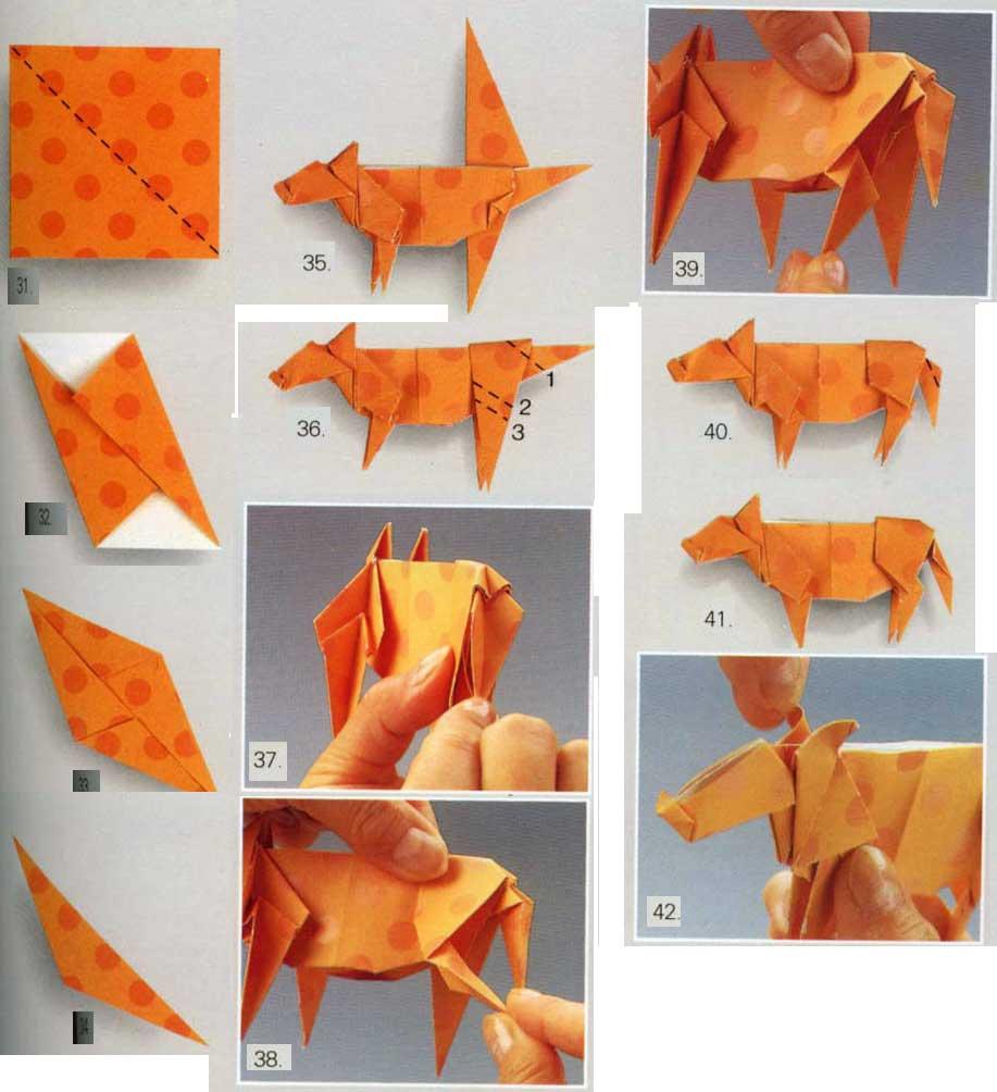 Животных из бумаги своими руками 21