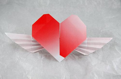 оригами из бумаги сердце видео