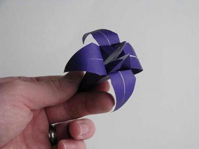 оригами из бумаги видео ирис