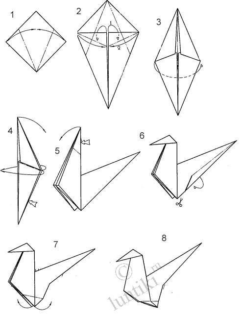 оригами из бумаги схемы модули