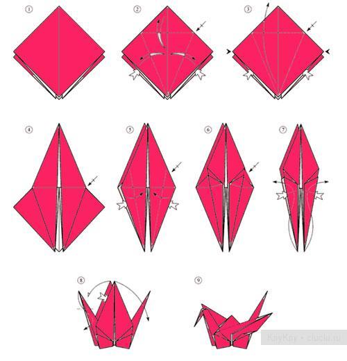 оригами из бумаги видео схемы