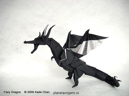 оригами из бумаги видео дракон