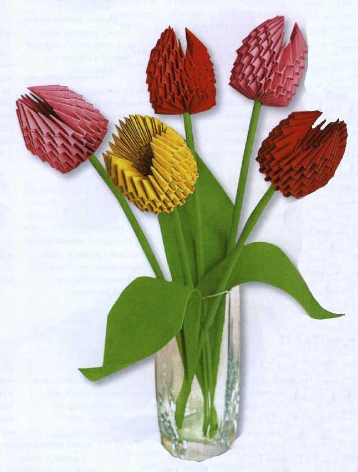 Оригами модульное схема тюльпана